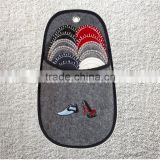 6 Assorted Color felt Slippers and Slipper Holder Set                                                                         Quality Choice