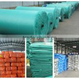 China Supplier Cheap PE Tarp high tensible leno woven fabric striped hem pp rope finished colored awning make-to-order tent use