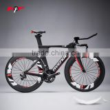 Beautiful design with All cable hidden 2015 HONGFU Newest tt frame, carbon time trail bike frame aero tt frameset