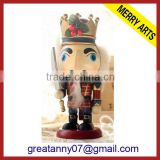 "alibaba express hight quality products 6"" wooden carving handle figurine nutcracker"