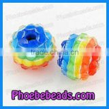 Wholesale Basketball Wives Earring Beads Round Acrylic Rhinestones Beads (BRB-008)