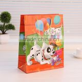 large red drawstrings Hello kitty and dog paper gift bag for happy birthday/Valentine's Day