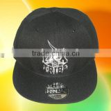 Custom Flat Brim Snap Back Baseball Cap 3D Embroidery Cap