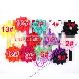 China Supplier Newest Products Cheap Wholesale Fashion Flower Ribbon Elastic Headbands With Rhinestone