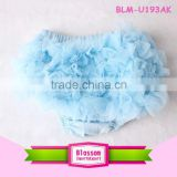 Baby blue chiffon ruffle girls in children's shorts baby panties bloomers