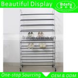 Customized Shoes Display Rack Shoes Tower with Wheels                                                                                         Most Popular