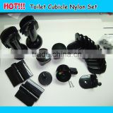 professional wholesale top quality plastic nylon black toilet cubicle accessories                                                                                                         Supplier's Choice