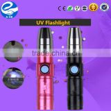 Aluminium AA Carbon Battery Size UV LED Flashlight Mini Torch                                                                         Quality Choice