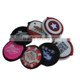 customed printed mini wallet/purse handbag, mini round shape pouch, samll coin purse for promotion