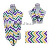 hot selling Mardi gras color chevron scarf