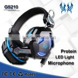 EACH GS210 Gaming Headphones Gaming Headset Gamer Headband Colorful LED Earphones With Mic Stereo Fone De Ouvido for PC Gamers                                                                         Quality Choice