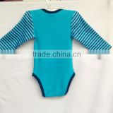 2016 hot sale organic cotton import baby clothes china baby romper/baby toddler clothing.low pir moq huoyuan