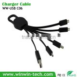 Multifunction All-in-One USB Accelerated Charging 6 in1 Multiple Cables dataline for Advertising Gifts & Incentives