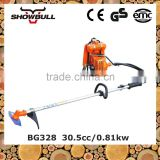 Professional 2-stroke gas brush cutter grass cutter trimmer with 2T,3T,8T,40T blade