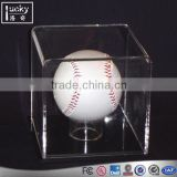Factory manufacture crystal baseball display box /case with volleyball display holder size 5
