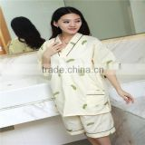 Luxury New Design Bathrobe Thin Robe Sets Gowns Printed Spa Beauty Salon Robe