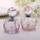 customized crystal perfume bottle with different perfumes for car decoration