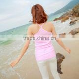 Custom blank crossed Y neck womens tank tops, sexy women tank top bulk wholesale cheap price from china factories