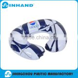 Factory EN71-1-2-3,ASTM Blue/White PVC Inflatable travel pillow ,u shape neck pillow case/memory foam neck pillows