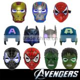 Hot selling LED Cosplay The Avengers Spider Man Iron Man Hulk Batman Captain America super hero masks