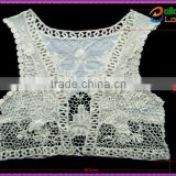 wholesale fashion embroidered Women Vintage ladies crochet flower embroidered vests for dress