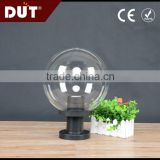 Transparent plastic outdoor globe lamp shade acrylic ball light cover for fence lamp