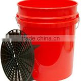 wholesale professional 20L plastic car wash water bucket with magic detailing grit guard
