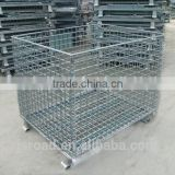 Collapsible Welded Metal Mesh Box Foldable Wire Mesh Container Handling Basket Manufacturer