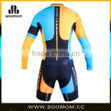 2016 New Men's Breathable & quick dry Long Sleeve TT suit Skinsuit Cycling Kit for club team and professional team custom made