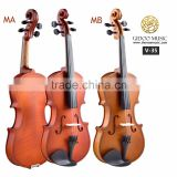 Chinese violin 1 / 4 1 / 2 4 / 4 with case, bow, rosin V35