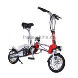 "Light weight backpack 36V 240W Foldable ebike Powerful electric Bicycles with UL battery 12"" green city electric bike"