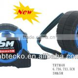 New Design 3m & 5m one stop steel tape measure rubber cover rectractable measuring tape