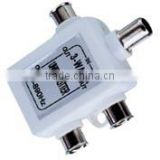 white color 3 way splitter plastic VK11011