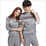 wholesale man's fashionable plain solid color long sleeve sweatshirt track suit , sports wear