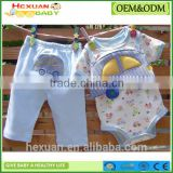 OEM factory or stocked designs new design Baby Summer Clothing Set baby toddler clothing Bodysuit Pant Set baby rompers