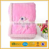 high quality solid thick giraffe fluffy sheepskin velvet baby blanket