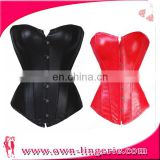 Wholesale red leather corset tops to wear out Corset Tops To Wear Out