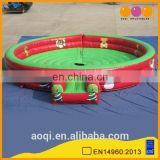 AOQI commercial use outdoor inflatable bull fight ring game for adults