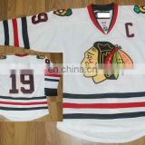 Wholesale white jerseys/Chicago blackhawks #19 Jonathan Tower embroidery hockey jerseys Front