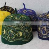 Factory direct sale muslim men embroidered prayer caps Africa Nigeria