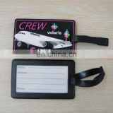 custom airplane travel rubber suitcase baggage luggage tag
