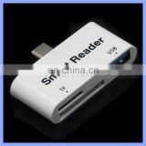 3 in 1 USB 3.1 TYPE C Smart Card Reader OTG for Apple New MacBook/Nexus 6P/5X