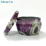 Wholesale paint round containers metal case containe aromatherapy oil candle tin can box
