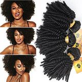 Brazilian Curly Human Natural Curl Hair Double Wefts  12 Inch
