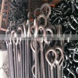 high quality forged carbon steel oval long eye bolt