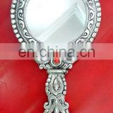 Rawat Handicrafts Indian Handmade Lac Beaded Glitter work Handicrafted make up mirror MR-81