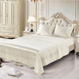 Soft silk fitted sheets sets satin Twin/Queen /King full sizes solid color Bed sheet  4pcs/set bedspread bed linen