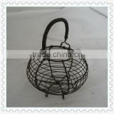 wholesale antique black wire egg basket with handle