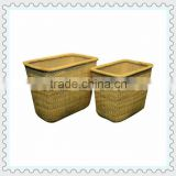 rectangular rattan / bamboo storage baskets