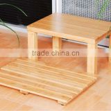 Bamboo Bathroom Mat and Stool